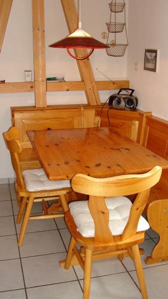 Essecke in der Küche der Wochnung im 1. Stock