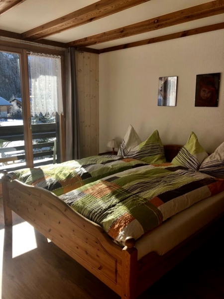 Schlafzimmer der Wohnung im 1. Stock