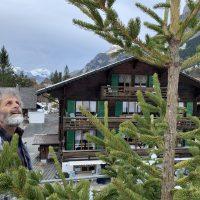 René schmückt den Tannenbaum
